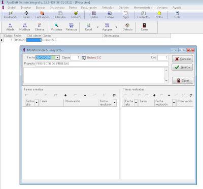 Proyectos - AjpdSoft Gestión Integral