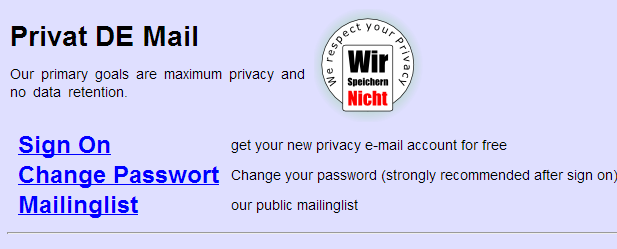 Private De Mail