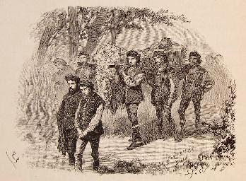 Los pastores llevan a enterrar el cuerpo de Grisóstomo.