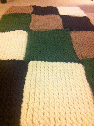 Jenns Yarn Addiction Loom Blanket