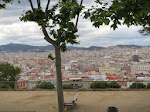A view of Barcelona from the Montjuic area