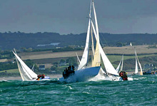 J/80s sailing off France on Bay of Biscay