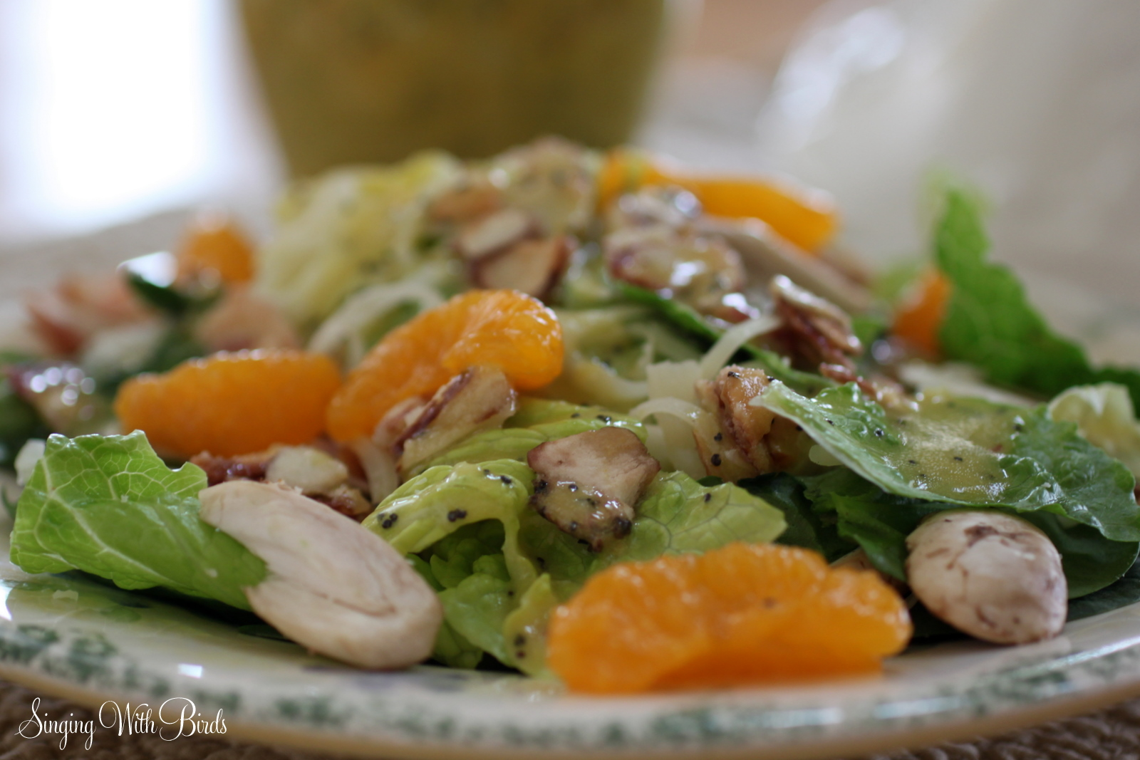 Romaine And Mandarin Orange Salad With Poppy Seed Dressing Recipe ...