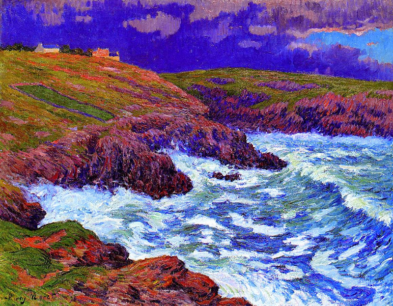 Henry Moret - Storm, the Coast of Finestere, 1898