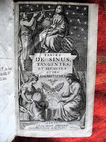 Bello frontispicio con alegorías matemáticas y astronómicas.