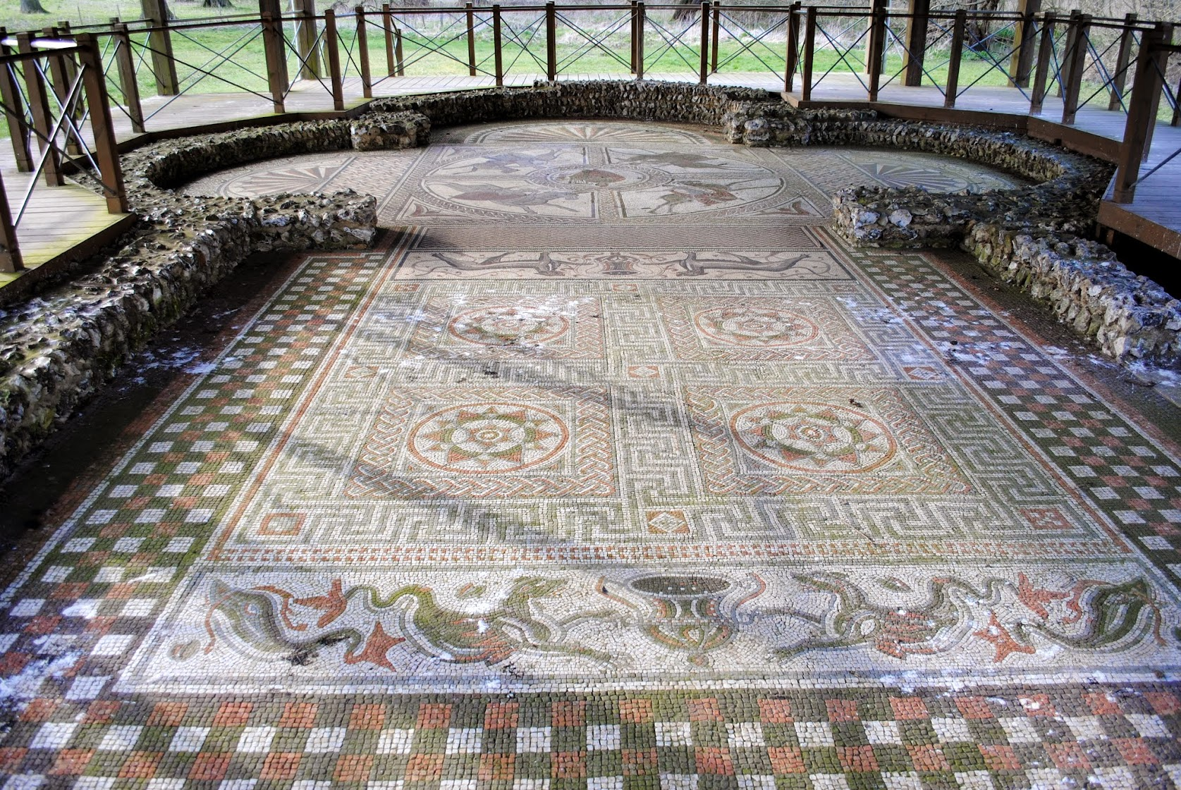 My Photos: England -- Mosaics -- Littlecote Manor House