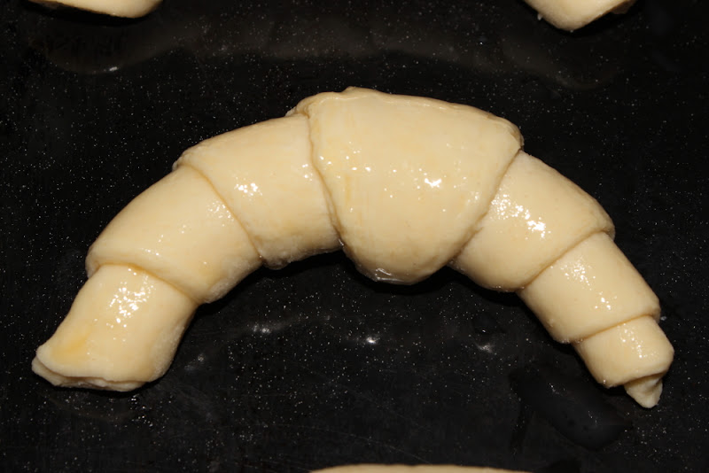 Croissants - Formado antes de hornear