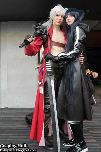 devil may cry / black rock shooter cosplay - dante and black rock shooter at otakuthon 2012
