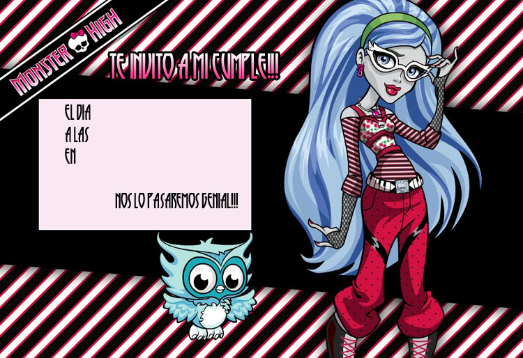 Invitación de las Monster High