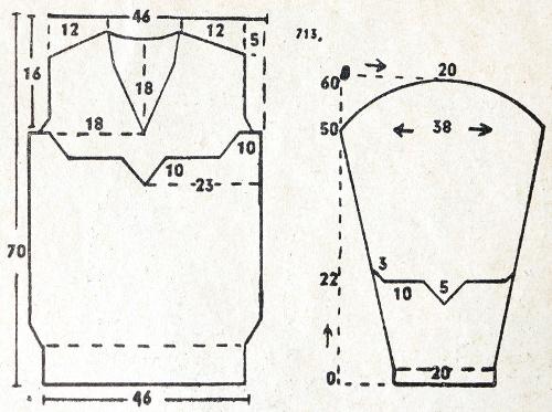 30s knitted sweater schematics