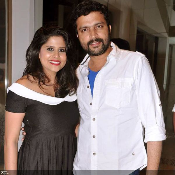 Popular Marathi actors, Sai Tamhankar and Ankush Choudhary at the press meet of MIFTA Awards, held in Mumbai, on May 27, 2013. (Pic: Viral Bhayani)
