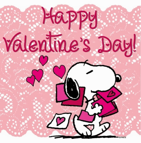 Snoopy: Happy Valentine's Day!