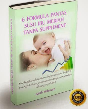"""panduan tambah susu ibu tanpa supplemen ebook """"6 formula pantas susu ibu meriah tanpa suplemen"""""""