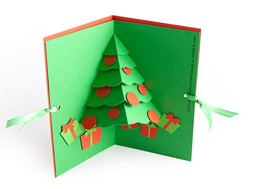 Как сделать открытку внутри с елочкой