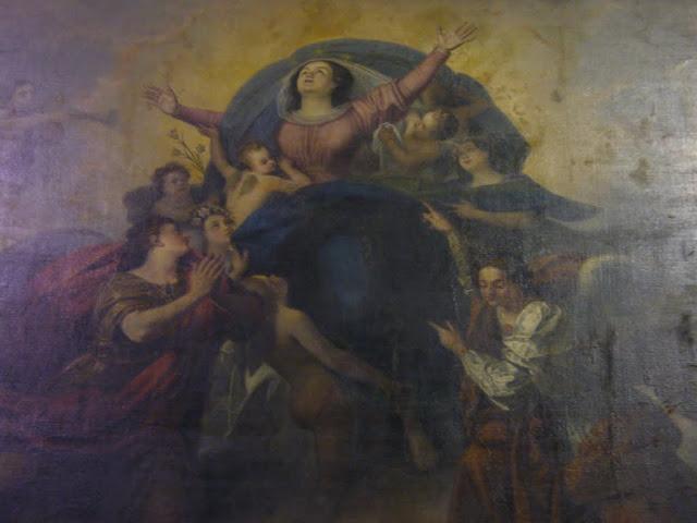 Particolare della tela dell'Assunzione presente nel Duomo di San Donà