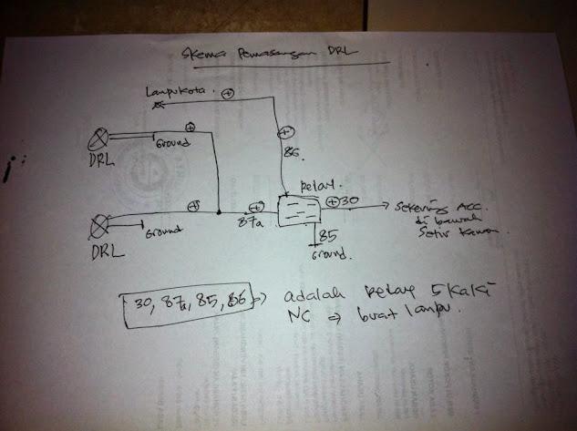Skema pemasangan DRL