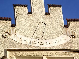 Солнечные часы в Конопиште