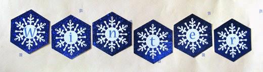 Winter snowflakes wall decor