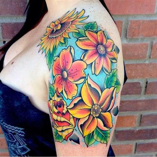 111 Artistic And Striking Flower Tattoos 5