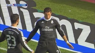 Golo de Cristiano Ronaldo no Granada 0 - 4 Real Madrid. 12 jogos de CR7 sempre a marcar!