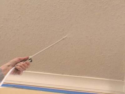 Allen 39 s advice trim work on a ceiling for How to remove popcorn ceiling without water