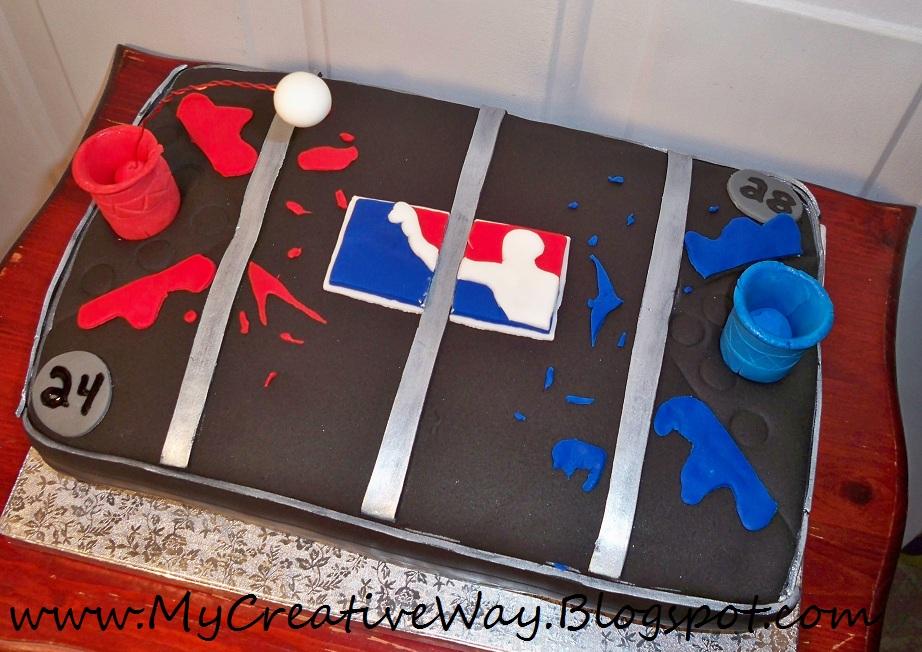 My Creative Way: Beer Pong Table Cake