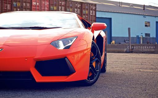 New Red Lamborghini Aventador