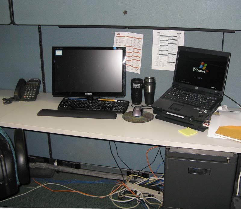 working cubicle