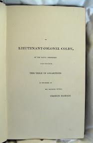 Dedicatoria al teniente coronel Colby