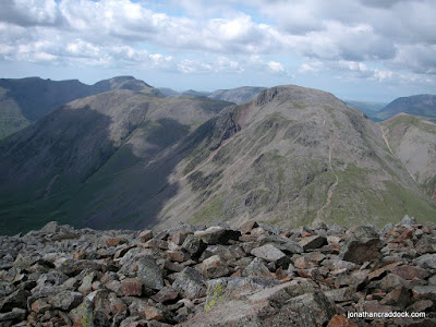 Great Gable seen from summit cairn of Great End