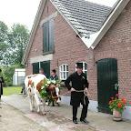 Boerenbruiloft Barlo Ophalen van de bruid