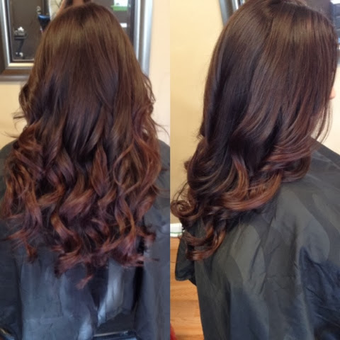 Warm dark brown fading into a deep red violet based tone.