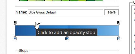 Adicionando um opacity stop ao degradê