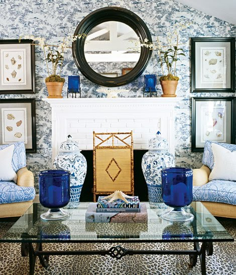 Dwellers without decorators 17 ways to rock a ginger jar for Wallpaper traditional home