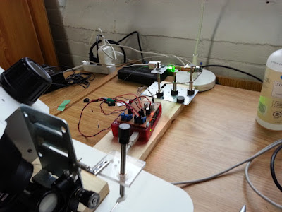 Setup built by Tibi and Enrique for calibration and characterization.
