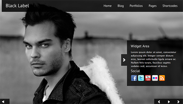 Black Label WordPress Portfolio Theme
