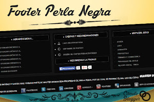 Footer Perla Negra para Blogger