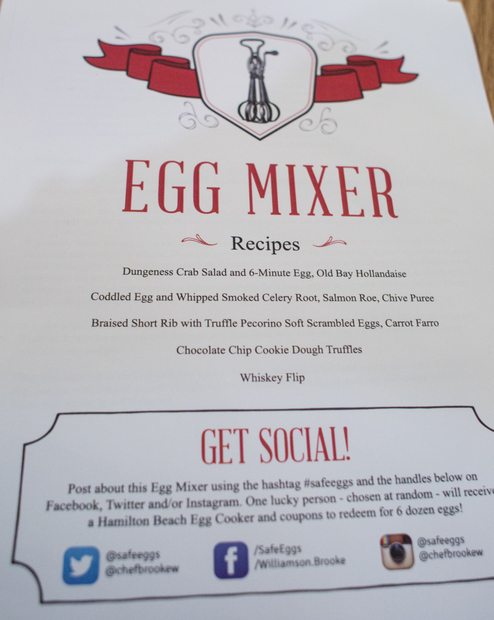 photo of a flyer with recipes from the event