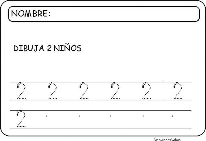ESOS LOCOS BAJITOS DE INFANTIL: FICHAS DEL NÚMERO 2