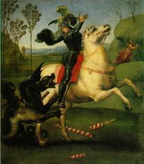 S. Giorgio che lotta col drago - 1505 -  Raffaele Sanzio