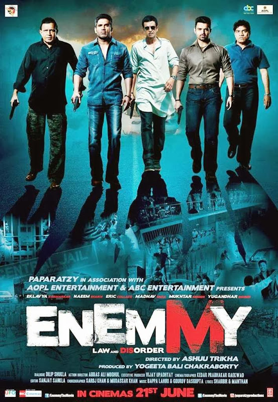 Poster Of Hindi Movie Enemmy (2013) Free Download Full New Hindi Movie Watch Online At Alldownloads4u.Com