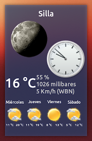 My-Weather-Indicator con reloj analógico a lo Cairo