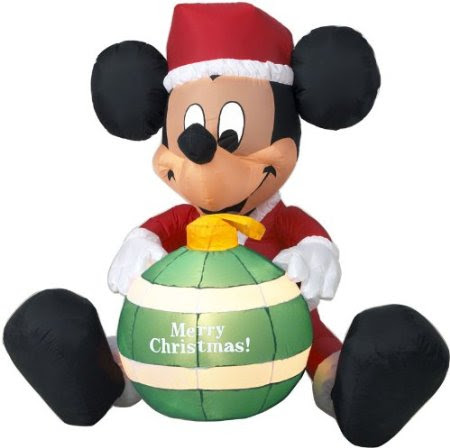 Disney Christmas Mickey Mouse Ornament LED Airblown Inflatable