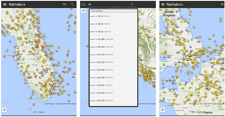 Flightradar24 App voor Android, iPhone en iPad