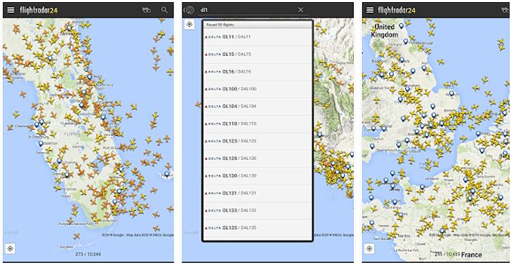 Flightradar24 App voor Android, iPhone en iPad