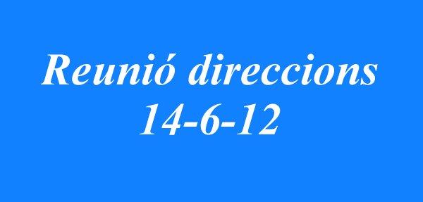 Reunió direccions_140612