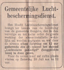 Gemeentelijke Luchtbeschermingsdienst. Gemeente Hengelo in de Tweede wereldoorlog. 1944.