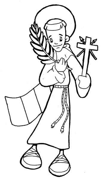 San Felipe de Jesús para colorear