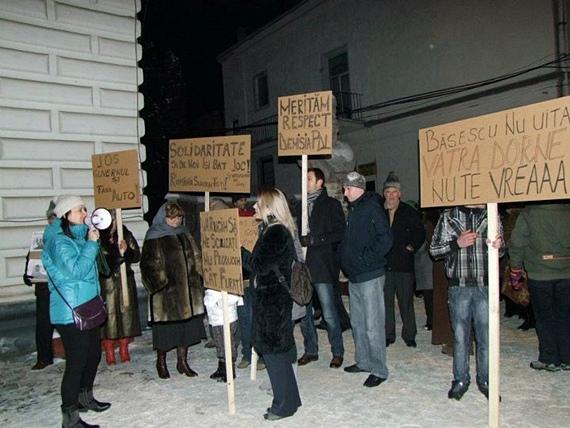 Vineri, a doua zi de proteste la Vatra Dornei