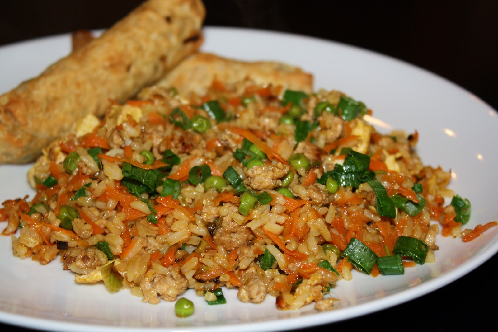 what's for dinner?: pork fried rice...15 minutes